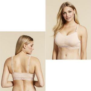 Jessica Simpson Nursing Lace Trim Wireless Bra